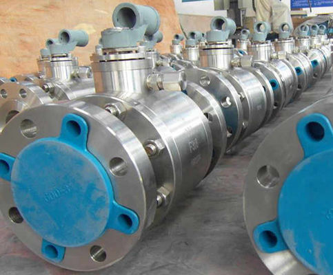 Cast Steel Floating Ball Valve Blowout Proof Stem Mengurangi Bore Nace MR-01-75